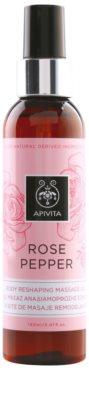 Apivita Rose Pepper óleo de massagem reafirmante anticelulite