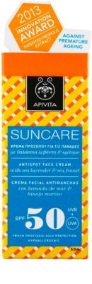 Apivita Sun Care Sea Lavender & Sea Fennel krema za sončenje proti temnim madežem SPF 50 2