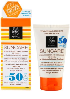 Apivita Sun Care Sea Lavender & Sea Fennel crema solar con color SPF 50 1