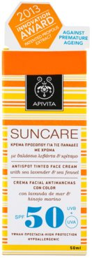 Apivita Sun Care Sea Lavender & Sea Fennel crema solar con color SPF 50 2