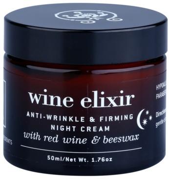 Apivita Wine Elixir Red Wine & Beeswax ujędrniająco - przeciwzmarszczkowy krem na noc