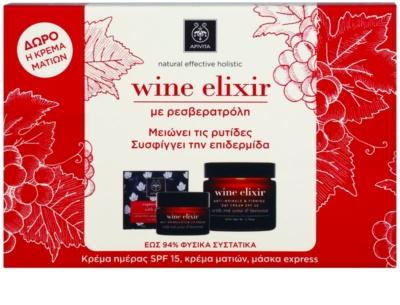 Apivita Wine Elixir Red Wine & Beeswax kosmetická sada I.