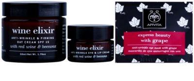Apivita Wine Elixir Red Wine & Beeswax kosmetická sada I. 2