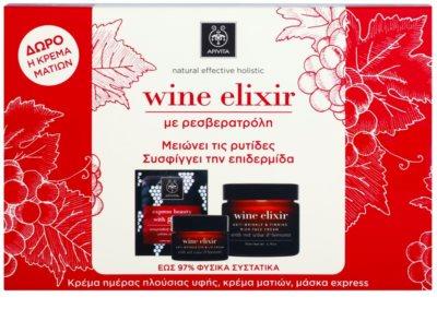 Apivita Wine Elixir Red Wine & Beeswax kosmetická sada II.
