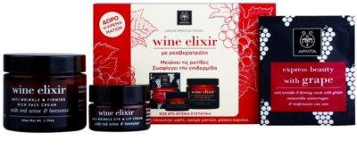 Apivita Wine Elixir Red Wine & Beeswax kosmetická sada II. 1