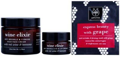 Apivita Wine Elixir Red Wine & Beeswax kosmetická sada II. 2