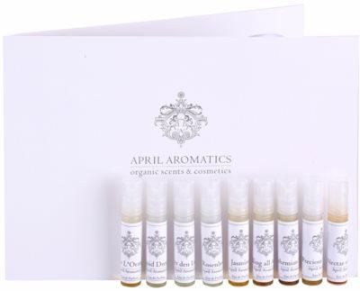 April Aromatics Deluxe Sample Set coffret presente