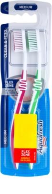 Aquafresh Clean & Flex zubní kartáčky medium 2 ks