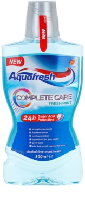 Aquafresh Complete Care Fresh Mint elixir bocal sem álcool