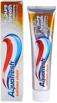Aquafresh Extreme Clean fehérítő fogkrém a friss leheletért 1