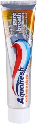 Aquafresh Extreme Clean fehérítő fogkrém a friss leheletért