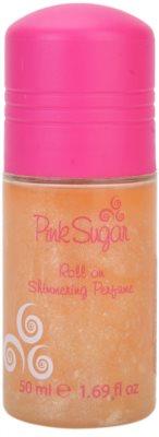 Aquolina Pink Sugar deodorant roll-on pro ženy   se třpytkami