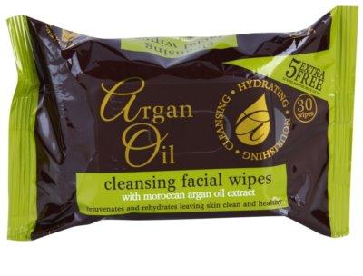 Argan Oil Hydrating Nourishing Cleansing čistilni robčki z arganovim oljem