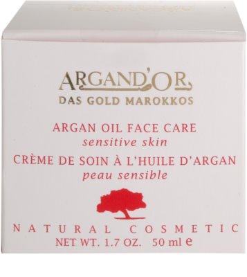 Argand'Or Care krem do twarzy z olejkiem arganowym 4