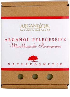 Argand'Or Care sapun de argan cu miros de trandafir marocan 1