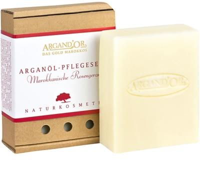 Argand'Or Care mydło arganowe z aromatem marokańskiej róży