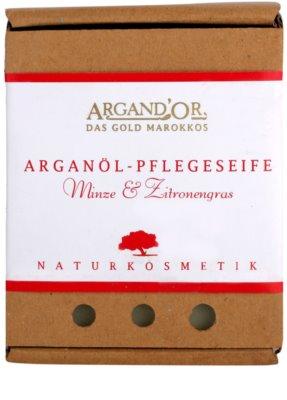 Argand'Or Care jabón de argán con olor a menta y limoncillo 1