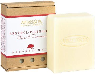 Argand'Or Care jabón de argán con olor a menta y limoncillo