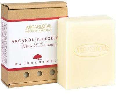 Argand'Or Care sabonete de argan com aroma de hortelã e erva-príncipe