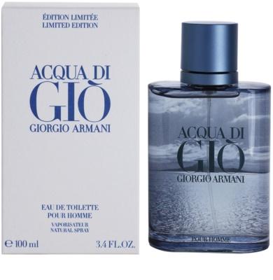 Armani Acqua Di Gio Pour Homme Blue Edition Summer Eau de Toilette pentru barbati