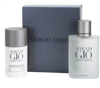 Armani Acqua di Gio Pour Homme coffrets presente