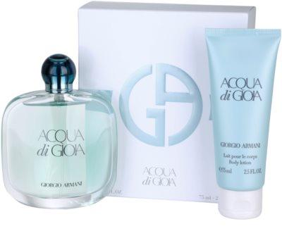 Armani Acqua di Gioia coffrets presente 1