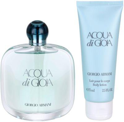 Armani Acqua di Gioia lotes de regalo 3
