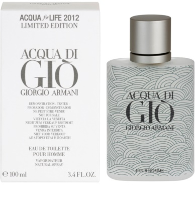 Armani Acqua di Gio Pour Homme Acqua for Life Limited Edition тоалетна вода тестер за мъже 2