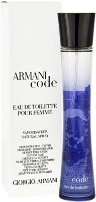Armani Code Woman Eau de Toilette tester pentru femei