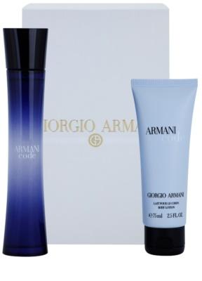 Armani Code Woman ajándékszettek 4
