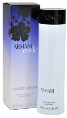 Armani Code Woman leite corporal para mulheres