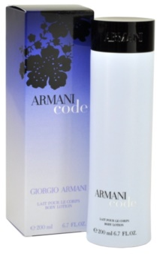 Armani Code Woman testápoló tej nőknek