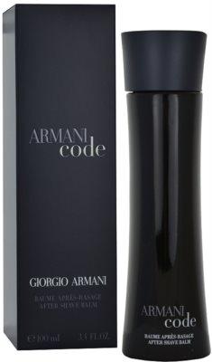 Armani Code bálsamo after shave para hombre