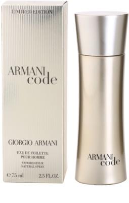 Armani Limited Edition Golden Pour Homme Eau de Toilette para homens