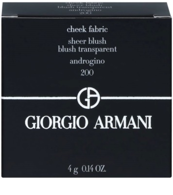 Armani Cheek Fabric освежаващ руж 2