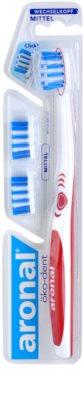 Aronal Dental Care cepillo de dientes + 2 cabezales de recambio medio