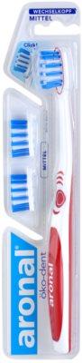 Aronal Dental Care escova de dentes +  cabeças de substituição medium