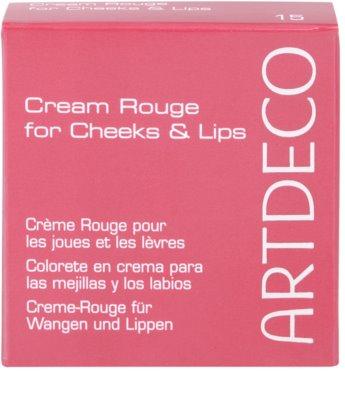 Artdeco Majestic Beauty кремообразен руж за устни и скули 3