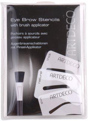 Artdeco Eye Brow Stencil pędzelek do brwi z szablonami 2