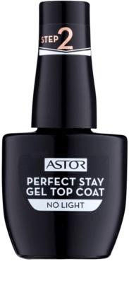 Astor Perfect Stay Gel Top Coat топ гел-лак за нокти без употреба на UV/LED лампа
