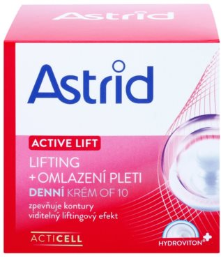 Astrid Active Lift liftinges bőrkisimító nappali krém SPF 10 2