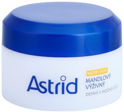 Astrid Nutri Skin creme nutritivo de dia e noite  com amêndoas  para pele seca a muito seca
