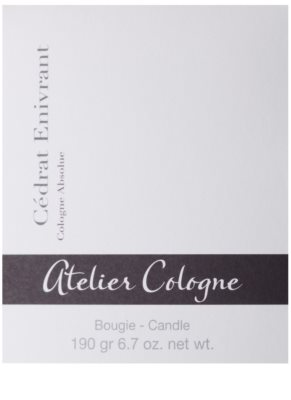 Atelier Cologne Cedrat Enivrant Scented Candle 3