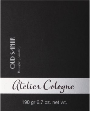Atelier Cologne Oud Saphir vela perfumado 3