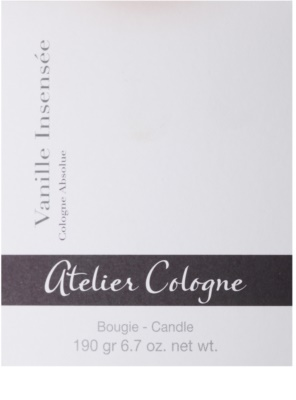 Atelier Cologne Vanille Insensee ароматна свещ 3