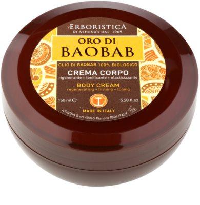 Athena's l'Erboristica Gold Baobab testápoló krém regeneráló hatással