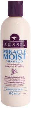 Aussie Miracle Moist champô para cabelos secos e danificados