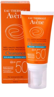 Avene Cleanance Solaire sluneční ochrana pleti se sklonem k akné SPF 50+ 2