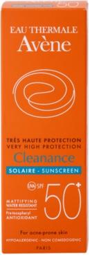 Avene Cleanance Solaire sluneční ochrana pleti se sklonem k akné SPF 50+ 3