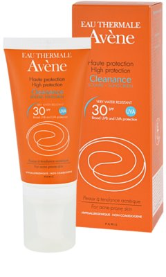 Avene Cleanance Solaire слънцезащита за кожа, склонна към акне SPF 30 1